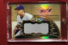 MIKE OLT 2013 TOPPS TRIPLE THREADS GAME USED JERSEY AUTO #/99 RANGERS #MO3