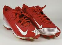 Nike Vapor Low Baseball Cleats Red & White Size 6.5  GUC