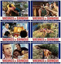 VACANZE DI SANGUE SET FOTOBUSTE 6 PZ. THRILLER 1975 THE COMMON MAN LOBBY CARD