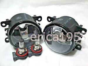Glass Fog Light Lamps w/2 Bulbs One Pair For 2008-2010 Focus 2006-2013 Mustang