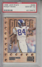 1998 Leaf Rookies and Stars #266 Randy Moss Z21646  - PSA Gem Mint (10)