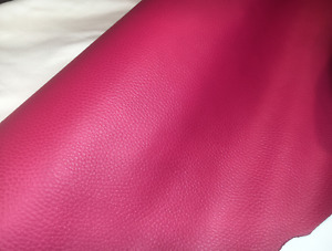 PEBBLE Finish HOT PINK Leather Hide offcuts off cut remnant Upholstery garment
