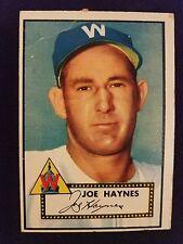 1952 Topps Baseball Card # 145 Joe Haynes (White Back)