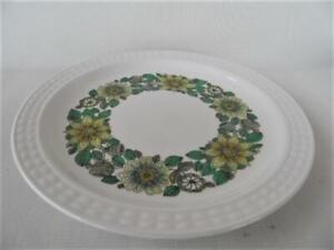 Vintage Retro Green Floral  Pontesa Ironstone made in Spain 21cm entree plate
