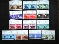 Germany Nazi 1944 Stamps MNG Pair Hero Memorial Day WWII Third Reich German Deut