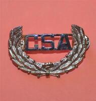 "CIVIL WAR CSA Confederate Southern Rebel Brass LAUREL LEAF LAPEL HAT PIN 2"" New"