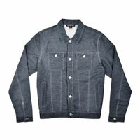 $495 Michael Kors Men'S Blue Button Up Cotton Denim Coat Trucker Jacket Size 2xl