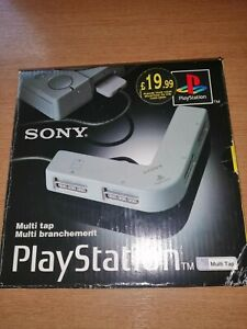 Ps1 Multitap Sony PlayStation 4 Player Adapter Multiplayer & Original Box