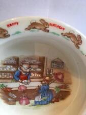 "Royal Doulton Bunnykins "" HAPPY BIRTHDAY"" Mr Piggy Stores Bowl RARE"