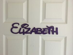 DISNEY STYLE PERSONALIZED WOODEN NAME PLAQUES/LETTERS/PAINTED. MADE IN USA