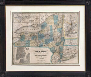 1840 J. Calvin Smith Map of New York