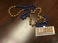 NCAA Illinois Illini Team Logo Mardi Gras Bead Necklace