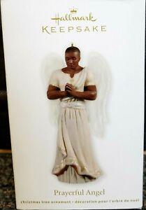 2011 Hallmark Prayerful Angel African American Male Keepsake Ornament MIB