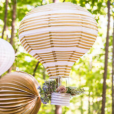 3 New Gold White Hot Air Balloon Lanterns Wedding Party Decorations Q27112