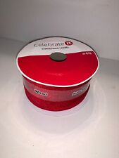 Celebrate It Christmas Ribbon Wired Red Velvet 2 1/2 in X 5 Yd