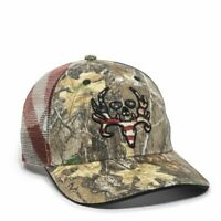 Outdoor Caps Bone Collector Realtree Edge Adult American Flag Mesh Back Hat