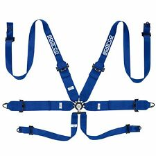 Sparco Pro Racer 6 Point (Steel) FHR FIA Approved Harness - Blue