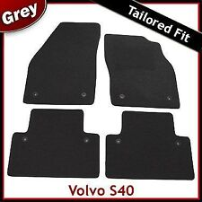 Volvo S40 Mk2 Tailored Carpet Car Mats 2004 - 2007 2008 2009 2010 2011 2012 Grey