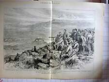 1877 The War In Asia Minor, The Battle Of Jahnilar As Watched From Hilltop