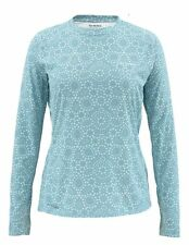 Simms Women's SOLARFLEX Crewneck ~ Ripple Dots Pool NEW ~ Small ~ CLOSEOUT