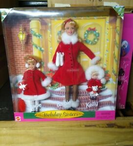 1999 Barbie Holiday Sisters Set Barbie, Stacie & Kelly # 23617 Mattel NRFB