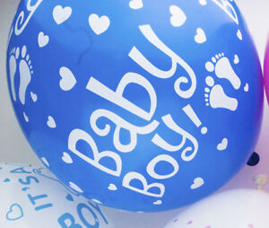 BABY SHOWER BALLOONS - Latex, Helium, Boy, Girl, Unisex, Pink, Blue baloons