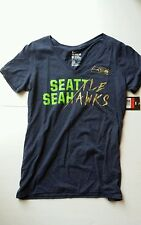 Nike Seattle Seahawks Gold Story Tri-Blend Athletic Cut T-Shirt Women's L