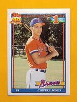 1991 Topps Chipper Jones #333 Baseball Rookie Card (RC) - Atlanta Braves - HOF