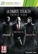 Ultimate Stealth Triple Pack Thief, Hitman, Deus Ex  (Xbox 360) * NEW & SEALED *