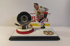Stan Mikita, Chicago Blackhawks McFarlane Figure and Team Puck Custom Display