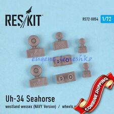ResKit 72-0054 Uh-34 Seahorse/Westland wessex NAVY Version Resin Wheels Set 1/72