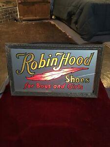 ORIGINAL VINTAGE ANTIQUE ROBIN HOOD SHOES Light upADVERTISING STORE DISPLAY