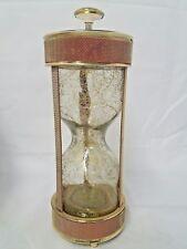 Vintage Hourglass Musical Decanter Barware How Dry I Am Glass Mesh Metal Japan