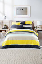 Sheridan Cannan Reversible DOUBLE Size Bed Quilt Cover Pillowcase Set in Wattle