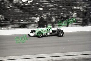 1966 USAC Indy car racing Photo negative Jim Hurtubise Indy 500