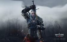 POSTER THE WITCHER 2 3 WILD HUNT WOLF LUPO GERALT OF RIVIA VIDEOGAME FANTASY #13
