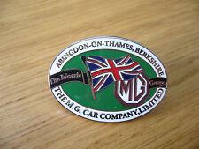 MG CAR Company Abingdon sul Tamigi bavero PIN IN SMALTO Chrome Badge T J K P L A B C