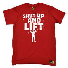 Cállate y levantar para hombre SWPS Cumpleaños Regalo Divertido Camiseta Workout Gym Entrenamiento
