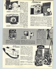 1957 PAPER AD Minolta Autocord L Camera Twin Lens Reflex Ansco Polariod Land