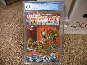 Teenage Mutant Ninja Turtles 1 cgc 9.6 4th print 1985 Mirage Studios WHITE pg NM