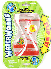 WATERWORKS Blue/Red Bubble Toy Liquid Water game Sensory Fidget Timer Spin Wheel