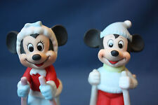Walt Disney Productions Porcelain Figurines Mickey and Minnie Mouse