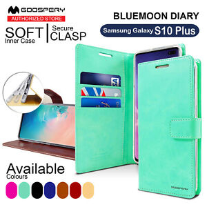 For Samsung Galaxy S10 Plus Goospery Wallet Leather Card Case BLUEMOON DIARY