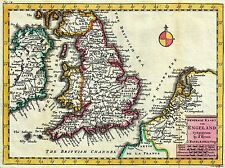 ART PRINT POSTER MAP OLD LA FEUILLE ENGLAND BRITISH ISLES NORTH SEA NOFL0692