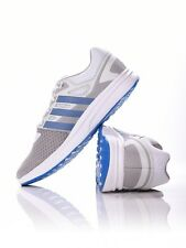 Adidas Galaxy 2 Da Uomo Performance TG UK 9 Bianco BLU RUNNING TENNIS PALESTRA NUOVO