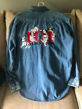 Disney Store Denim Shirt Size Medium Embroidered 101 Dalmatians vintage