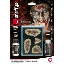 Zombie Schminkset Scars With Liquid Latex And Blood Halloween Latex Milk Make Up