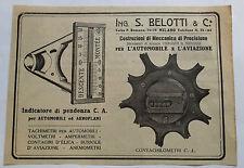 Pubblicità ADVERTISING RITAGLIO 1916 INDICATORE DI PENDENZA PER AUTO E AEREI