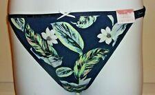 NEW Cacique Cotton String Bikini Black Multi Floral  14/16 0X CSB 1902