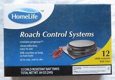 New listing Nib HomeLife Roach Control Systems 12 Child Resistant Bait Trays 0.84 Oz